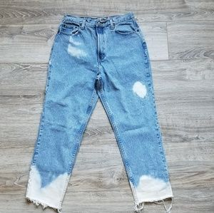Vintage Classis Fit Distressed Gap Ankle Jeans